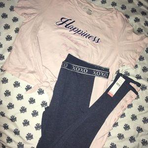 XOXO Work-out Set T-shirt/Pants